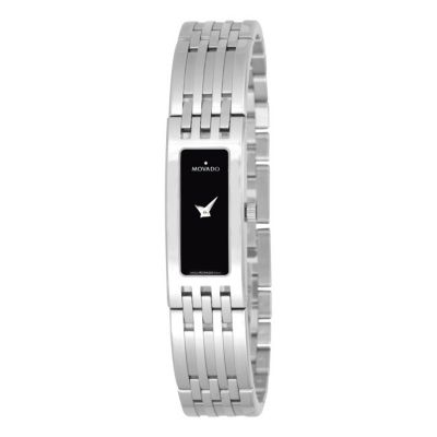 612-136 - Movado Women's Esperanza Baguette Swiss Quartz Stainless Steel Bracelet Watch