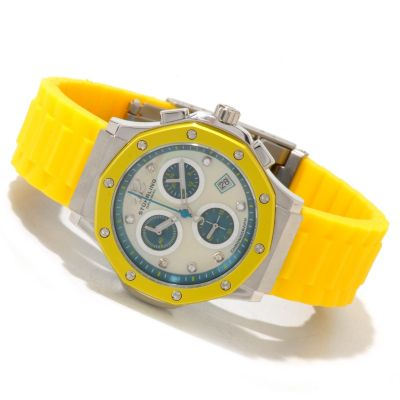 612-157 - Stührling Original Women's Cosmo Girl Quartz Chronograph Rubber Strap Watch