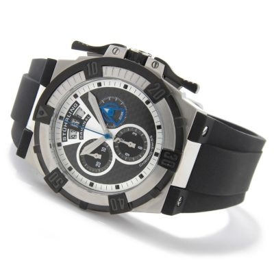 612-174 - Stührling Original Men's Falcon Swiss Quartz Chronograph Rubber Strap Watch