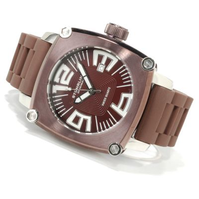 612-179 - Stührling Original Men's Milano Piazza Rubber Strap Watch