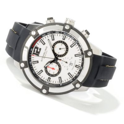 612-206 - Stührling Original Men's Victory Quartz Chronograph Rubber Strap Watch