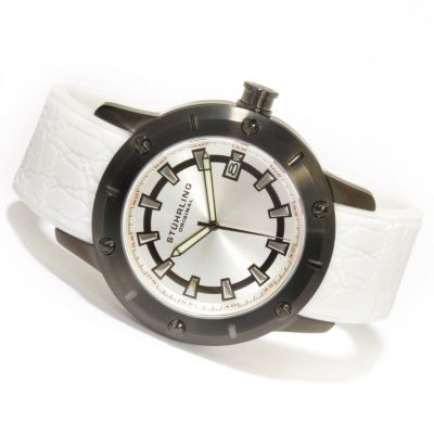 612-208 - Stührling Original Men's Torino Sports Quartz Rubber Strap Watch