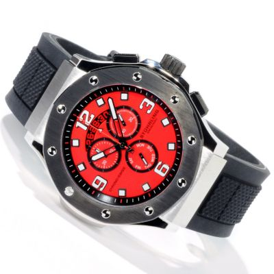 612-224 - Stührling Original Men's Apocalypse Grand Quartz Chronograph Rubber Strap Watch