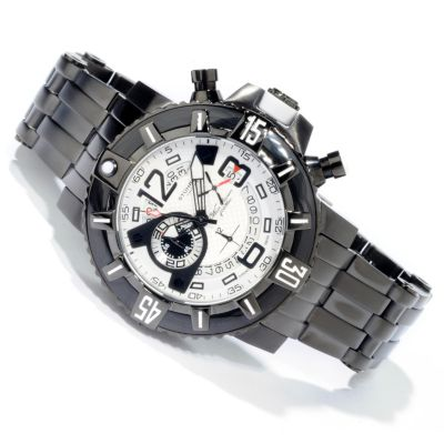 612-225 - Stührling Original Men's Challenger Pro Quartz Chronograph Stainless Steel Bracelet Watch