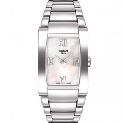 612-828 - Tissot Women's T-Trend Swiss Quartz Mother-of-Pearl Dial Stainless Steel Bracelet Watch