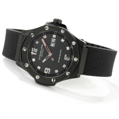 612-917 - Stührling Original Men's Apocalypse Big Date Rubber Strap Watch