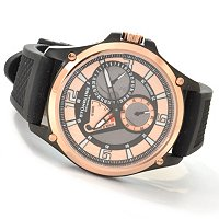 Stuhrling Original Men's Atlas Automatic Power Reserve Rubber Strap Watch