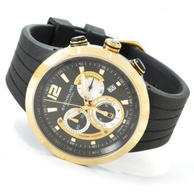 612-926 - Stührling Original Men's Phoenix Chronograph Rubber Strap Watch