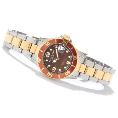 612-931 - Stührling Original Women's Clipper Diver Stainless Steel Bracelet Watch