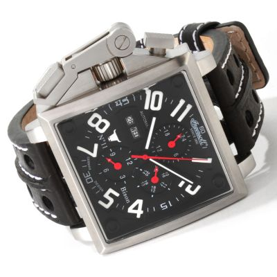 612-999 - Ingersoll Men's Bison No. 11 Automatic Leather Strap Watch