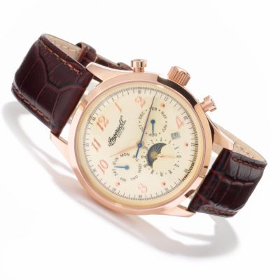 613-009 - Ingersoll Men's Union Automatic Leather Strap Watch