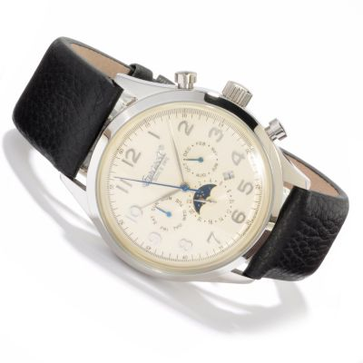 613-011 - Ingersoll Men's Union Automatic Leather Strap Watch
