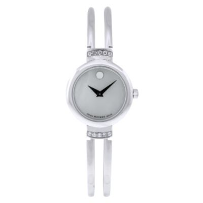 613-065 - Movado Women's Harmony Swiss Quartz Crystal Accent Stainless Steel Bracelet Watch