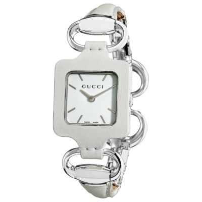 613-281 - Gucci Women's 1921 Series Swiss Quartz Leather & stainless Steel Bracelet Watch