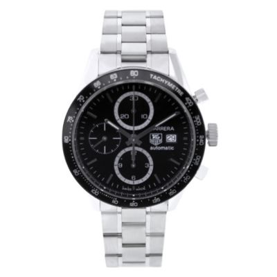 613-336 - Tag Heuer Men's Carrera Swiss Made Quartz Chronograph Stainless Steel Bracelet Watch