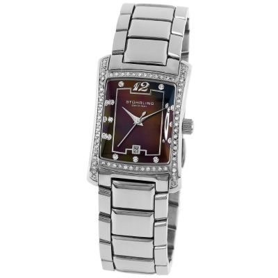 613-342 - Stührling Original Women's Lady Gatsby High Society Quartz Stainless Steel Bracelet Watch