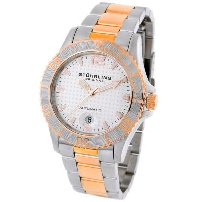 613-345 - Stührling Original Men's Regatta Automatic Mechanical Stainless Steel Bracelet Watch