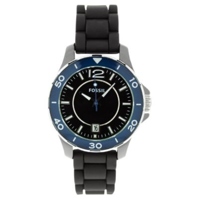 613-458 - Fossil Women's Classic Quartz Silicone Strap Watch