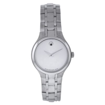 613-516 - Movado Women's Classic Swiss Quartz Silver-tone Dial Stainless Steel Bracelet Watch