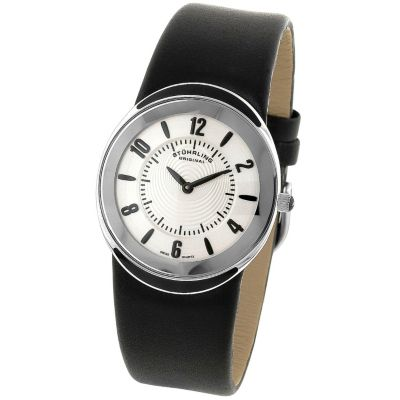 613-547 -  Stührling Original Men's Movida Quartz Leather Strap Watch
