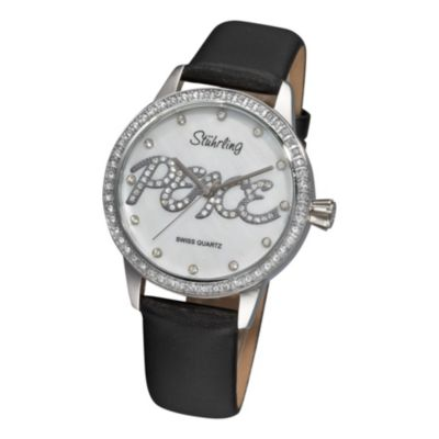 613-548 - Stührling Original Lady Peace Women's Quartz Watch Made w/ Swarovski® Elements