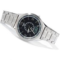 STAUER TITANIUM ATOMIC BRACELET WATCH