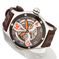 STUHRLING ORIGINAL MEN'S ALPINE XTREME RUBBER STRAP WATCH