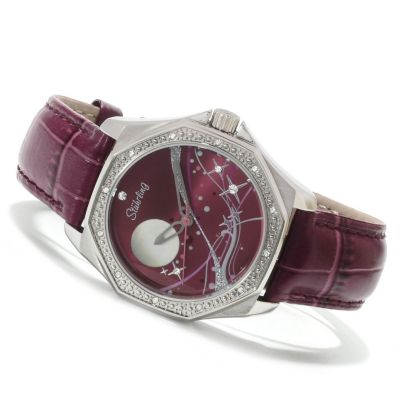 613-815 - Stührling Original Women's Nemo Universe Quartz Leather Strap Watch
