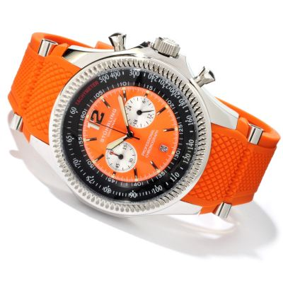 613-917 - Stührling Original Men's Targa Sport Quartz Chronograph Rubber Strap Watch