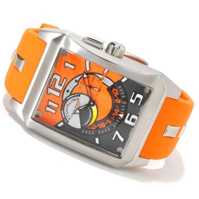 614-092 - Stührling Original Men's Madman Complex Quartz Rubber Strap Watch