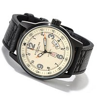 STUHRLING ORIGINAL MEN'S TUSKEGEE SKYMASTER AUTOMATIC LEATHER STRAP WATCH