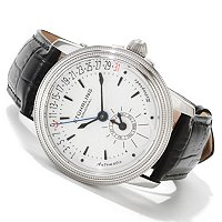 Stuhrling Original Men's Saturnalia Executive Automatic Leather Strap Watch