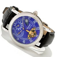 STAUER SERIES 7 REGULATOR II AUTOMATIC LEATHER STRAP WATCH