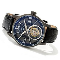 Stuhrling Original Men's Vice Royale Tourbillon Crocodile Strap Watch