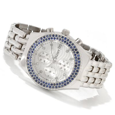 614-504 - Stauer Women's Callisto Quartz Chronograph Stainless Steel Bracelet Watch