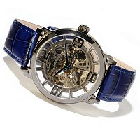 Stuhrling Original Men's Winchester Grand Skeleton Automatic Leather Strap Watch