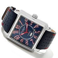 St_hrling Original Men's Manchester Ozzie Automatic Leather Strap Watch