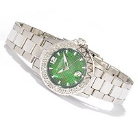 STUHRLING ORIGINAL WOMEN'S REGATTA MADAM DIAMOND 316L STAINLESS STEEL BRACELET WATCH