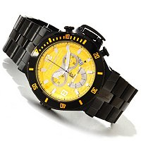 RENATO MEN'S WILDEBEAST DIVER SWISS CHRONOGRAPH STAINLESS STEEL BRACELET WATCH