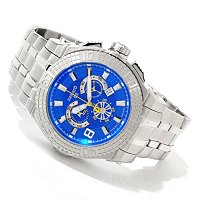 RENATO MEN'S BUZO 52 SWISS CHRONOGRAPH STAINLESS STEEL BRACELET WATCH