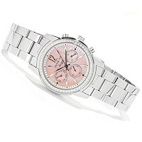 INVICTA WOMEN'S ANGEL CRYSTAL QUARTZ MOP DIAL BRACELET WATCH