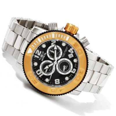 616-509 - Invicta Men's Sea Hunter Swiss Quartz Chronograph Stainless Steel Bracelet Watch
