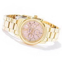 INVICTA WOMEN'S ANGEL CRYSTAL ACCENTED BEZEL BRACELET WATCH