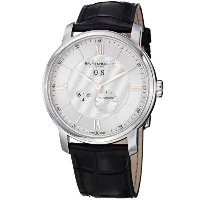 616-552 - Baume & Mercier Classima Swiss Made Automatic Black Leather Strap Watch