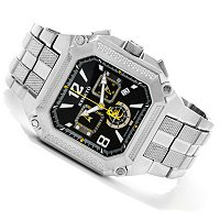 RENATO MENS COUGAR CHRONOGRAPH SQUARE CASE BRACELET WATCH
