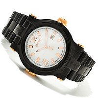 RENATO MENS T-REX BLACK/ROSETONE BRACELET WATCH