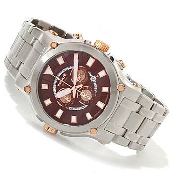 616-687 - Renato Men's Calibre Robusta Swiss Quartz Chronograph Stainless Steel Bracelet Watch