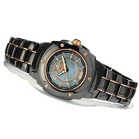 ONISS MEN'S GALAXY COLLECTION MOP DIAL CERAMIC/STAINLESS STEEL BRACELET WATCH
