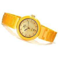 ONISS WOMEN'S GIRASOL COLLECTION QUARTZ MOP DIAL CERAMIC BRACELET WATCH