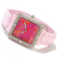INVICTA WOMEN'S CLASSIQUE CERAMIC DIAMOND SQUARE QUARTZ BRACELET WATCH
